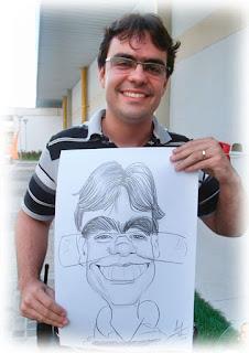 caricaturista profissional para evento em recife