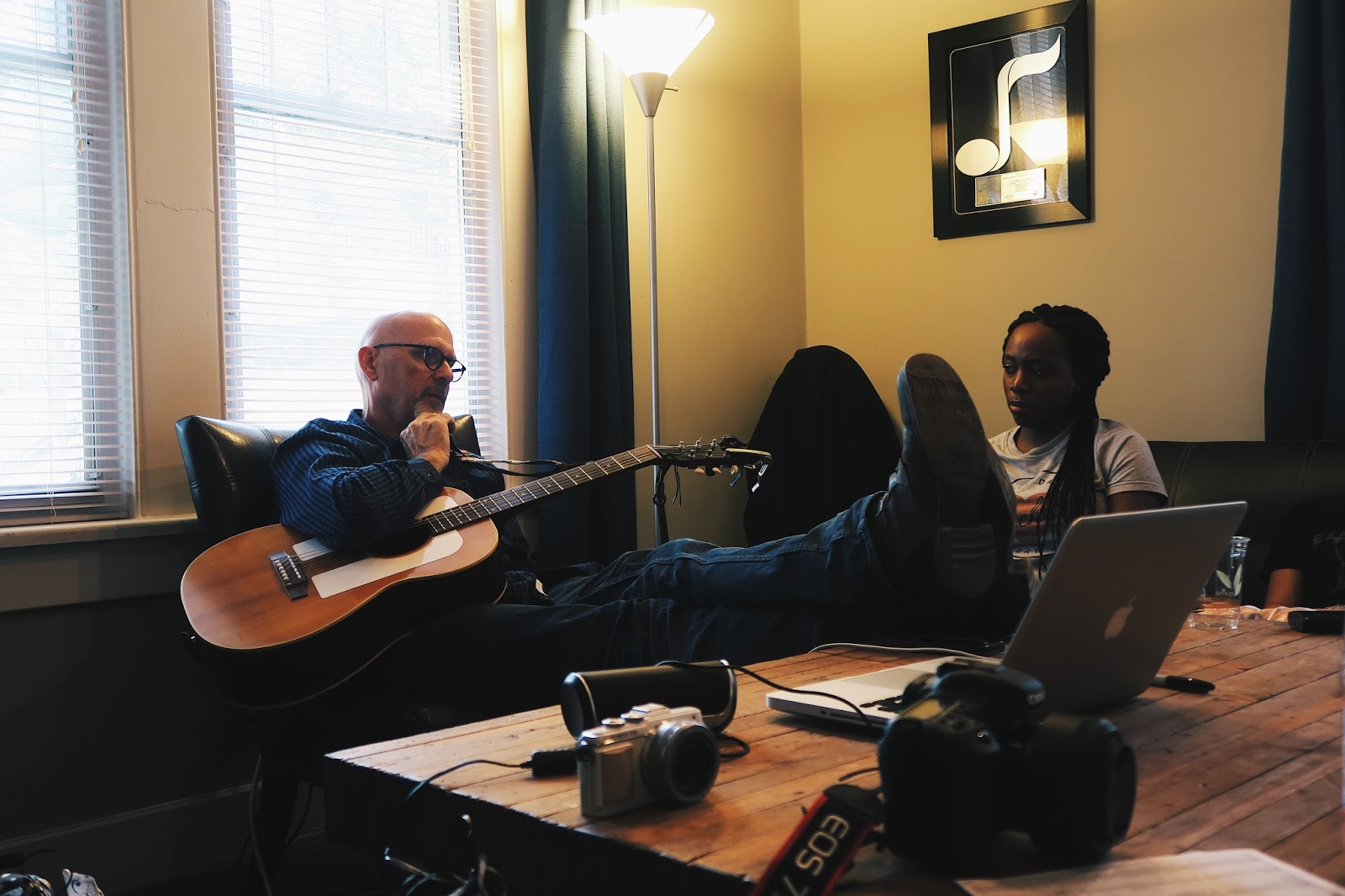 Billy Montana writing session at Curb