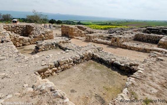 Restos arqueológicos de Hazor