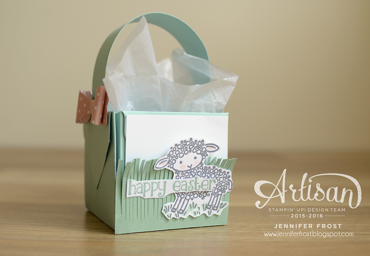 Tgifc45 easter gift box basket papercraft by jennifer frost tgifc45 papercraft by jennifer frost easter basket gift box punch board negle Image collections