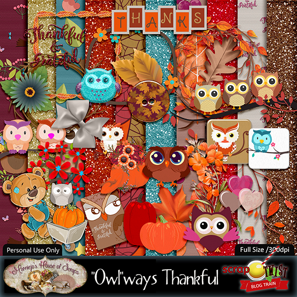 "November Scrap Twist Blogtrain - ""Owl"