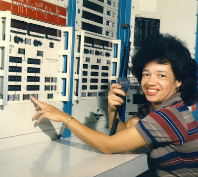 Photo of Dr. Darden working at NASA in early 60s.