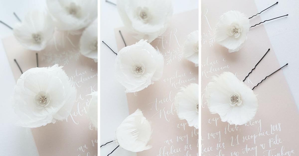 Kokówki ślubne z kwiatami PiLlow Design.