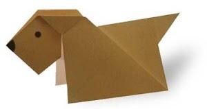 Cara Mudah Membuat Origami Anak Anjing