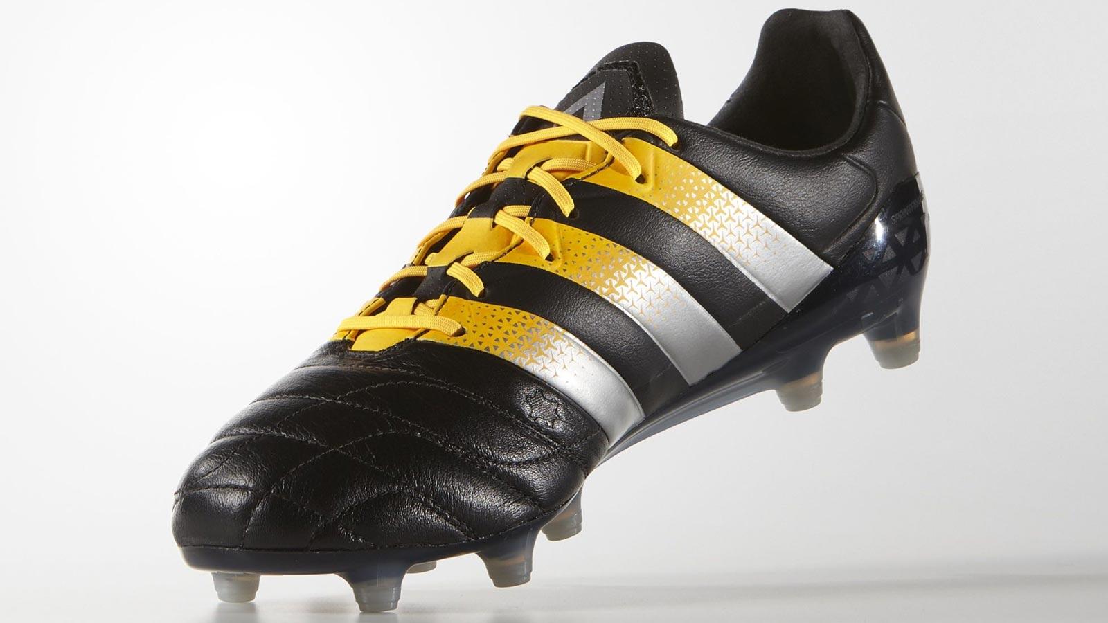 Adidas Ace 16.1 FG Men Leather solar yellow/core black ...
