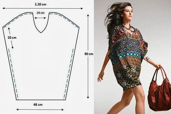 Conosciuto 10 Cartamodelli gratis di tuniche e vestitini semplicissimi  IQ96