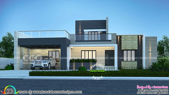 Modern flat roof 3 bedroom house 2263 square feet