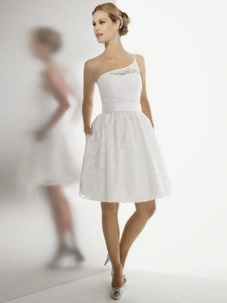 Vestidos cortos de novia en madrid