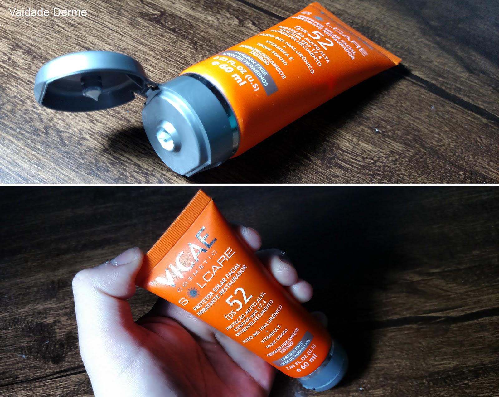 Vicae Protetor Solar Facial Solcare FPS 52