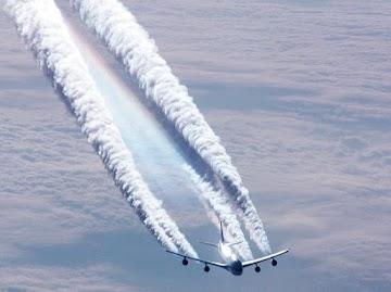 O produto químico de geoengenharia do clima