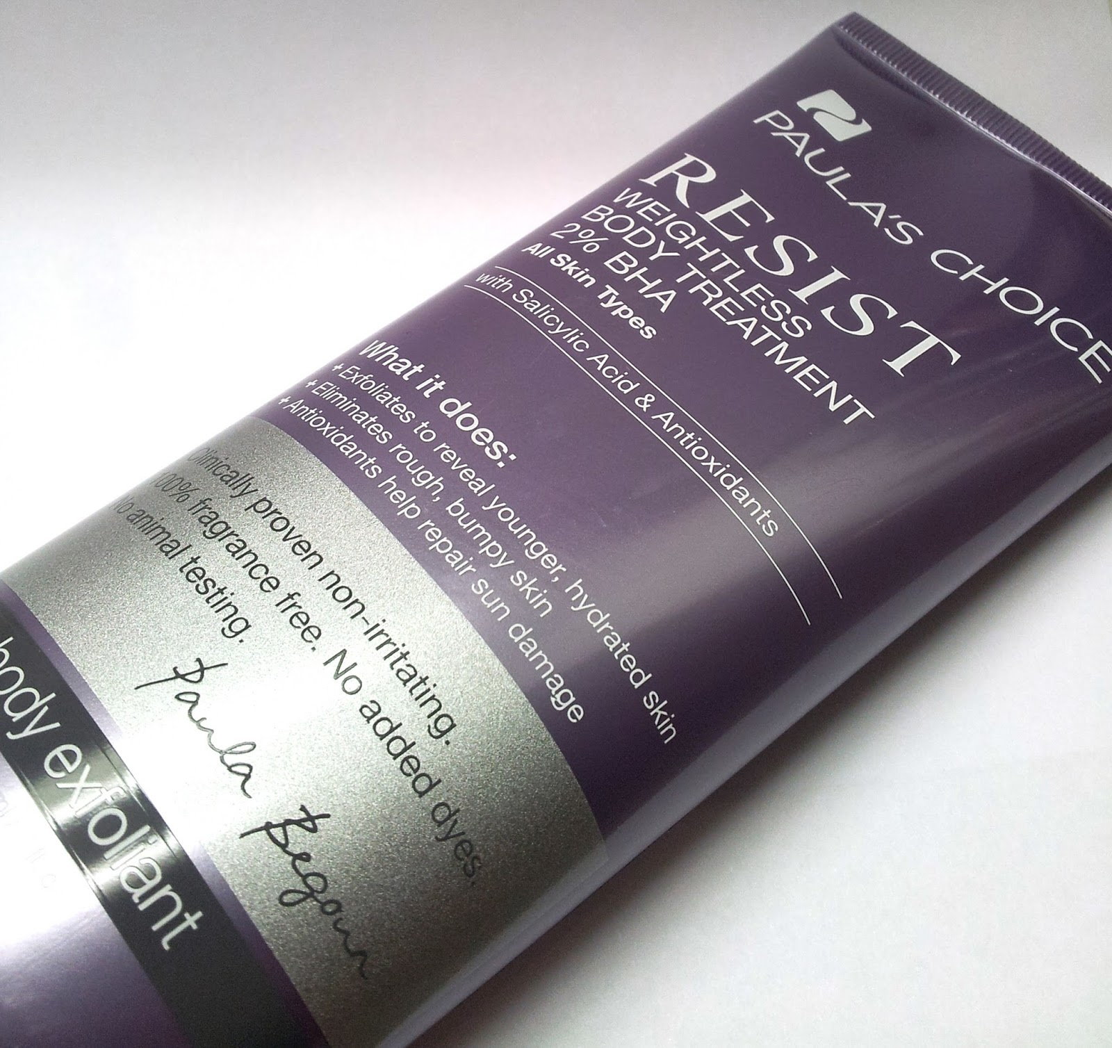 Paula's Choice: Resist Weightless body treatment 2% BHA bei Keratosis Pilaris