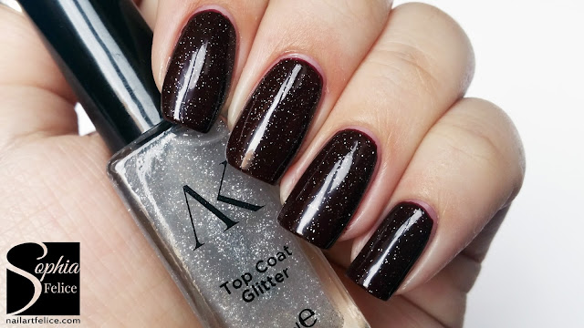gothic collection alika - top coat glitter