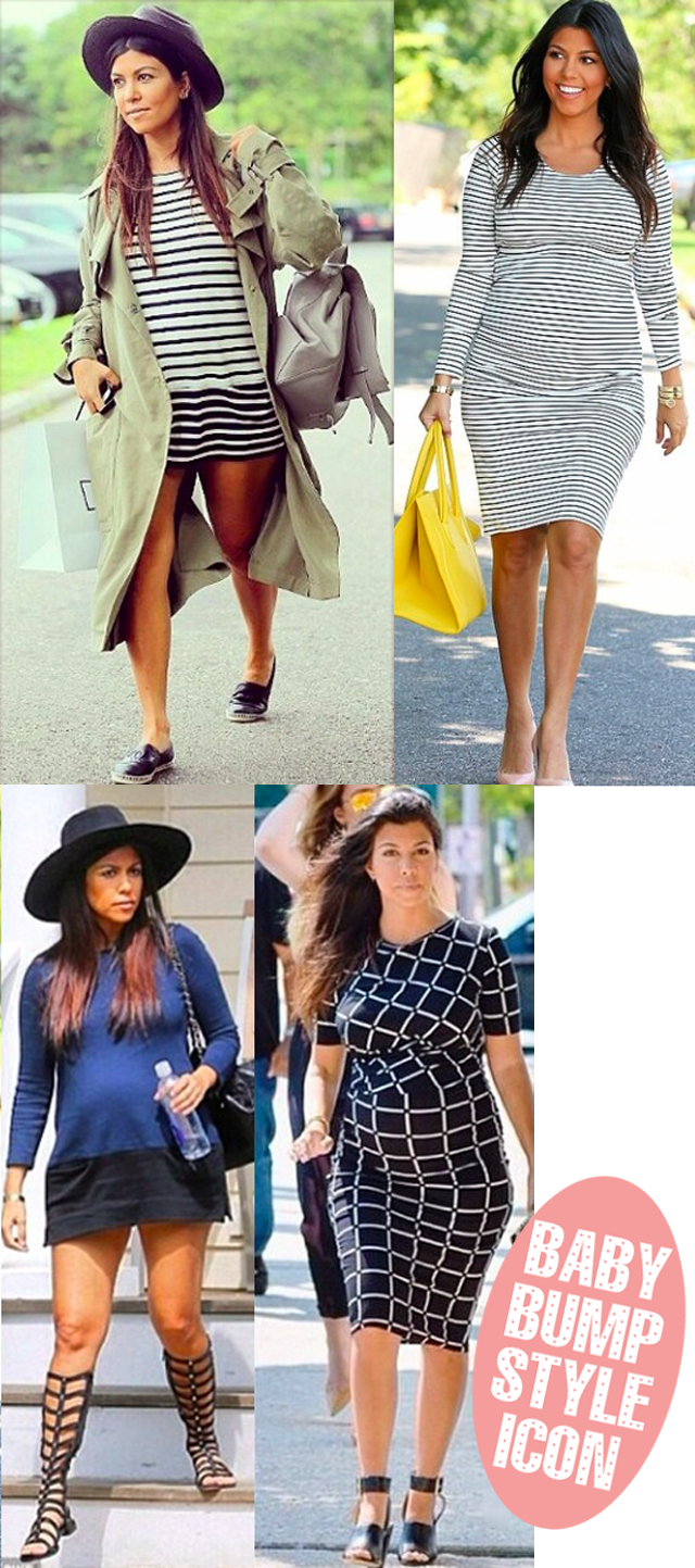 Kourtney Kardashian baby bump style