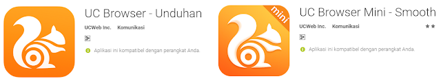 UC Browser Dan UC Mini-5 Aplikasi Browser Android Penghemat Kuota Internet