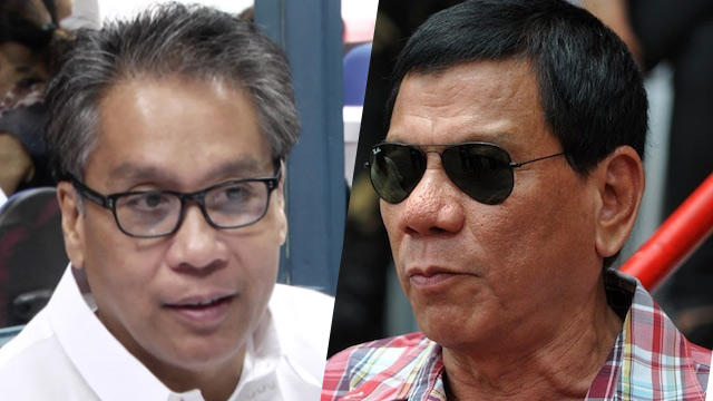 "Roxas to Duterte: ""Happy birthday, many happy returns to him."""