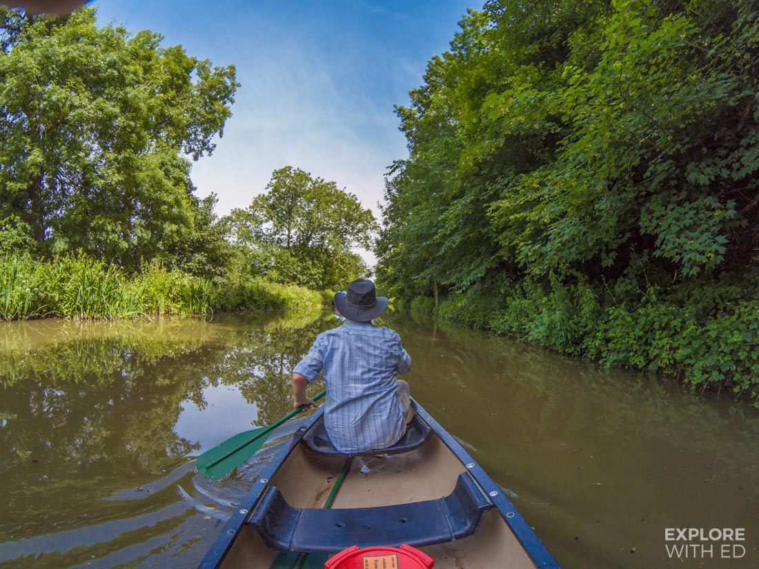 Canoeing on the Kennet and Avon Canal