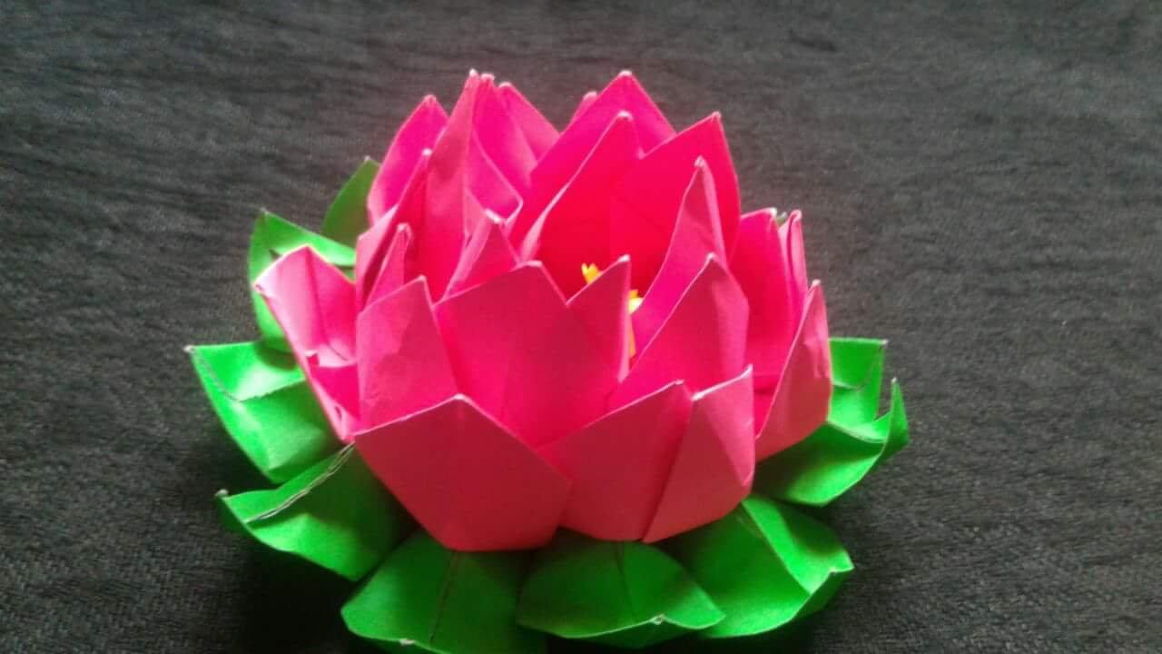 Rossy Craft Tube How To Make A Paper Origami Lotus Flower Easy Step