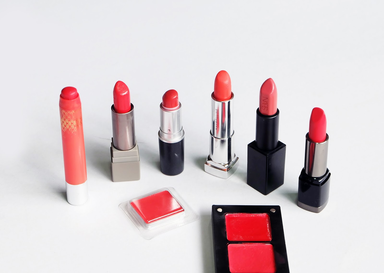 Best Orange Lipsticks swatches product review MAC Inglot MAKE UP FOR EVER