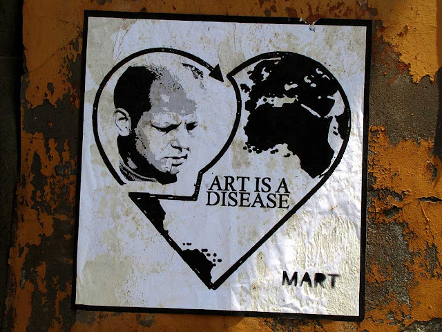 Jackson Pollock, art is a disease poster by Mart, Effetto Venezia, Livorno