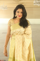 Harshitha looks stunning in Cream Sareei at silk india expo launch at imperial gardens Hyderabad ~  Exclusive Celebrities Galleries 016.JPG