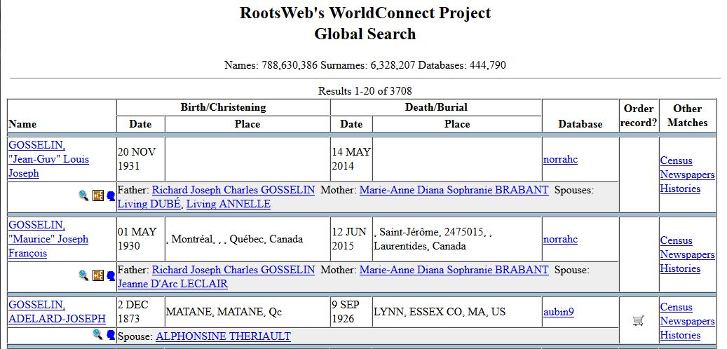worldconnect project Search results for worldconnect you can check rootsweb worldconnect project for a posting of my information regarding abner and his descendants.