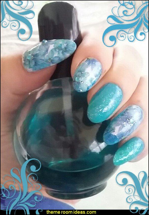 floral nail decals - nail polish - nail glitter - nail rhinestones - nail water decals floral nail decals