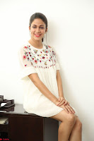 Lavanya Tripathi in Summer Style Spicy Short White Dress at her Interview  Exclusive 121.JPG