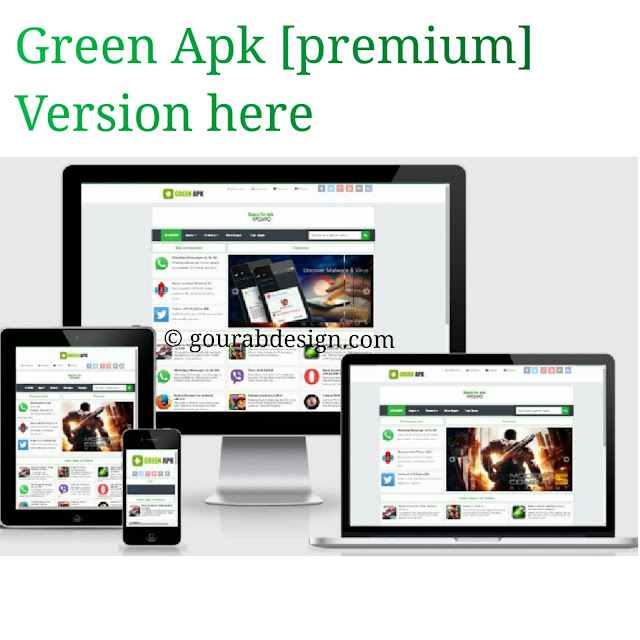 Green apk android app blogger template