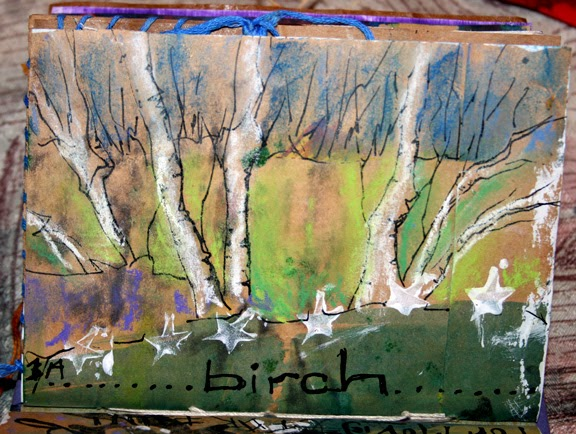 Art Journal Birch Trees