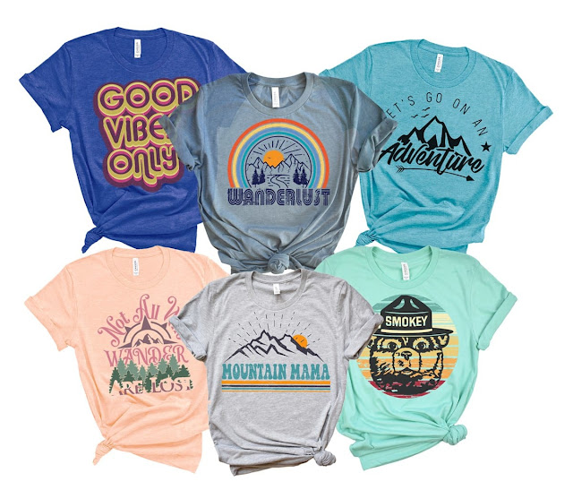 95c29528 You can get these cute Adventure and mountain themed graphic tees for  $13.99 right now. There are multiple styles and colors available.