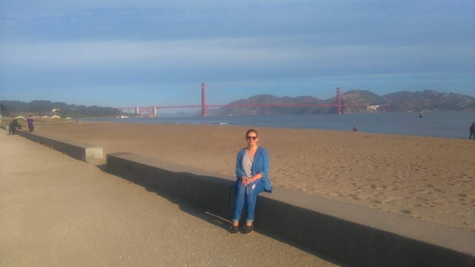 Me enjoying the beach life at Crissy Field San Francisco
