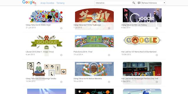 Google Doodles Lama-Tool Google Yang Belum Anda Ketahui dan Wajib dicoba
