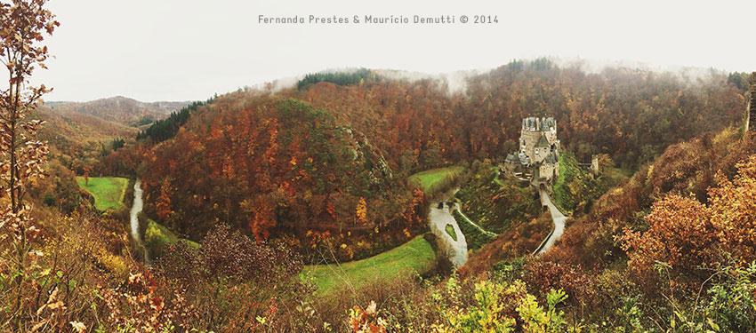 vista panorâmica do castelo de burg-eltz