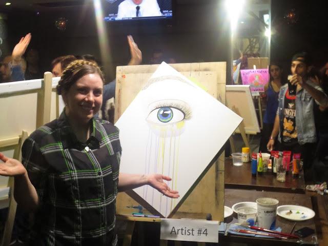At showdown, toronto art, toronto, toronto artist, mississauga art, mississauga, canadian artist, art battle, art competition, speed painting, eye art, eye painting, multicoloured eye