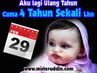 DP BBM Ulang Tahun Tanggal 29 Februari Sangat Spesial