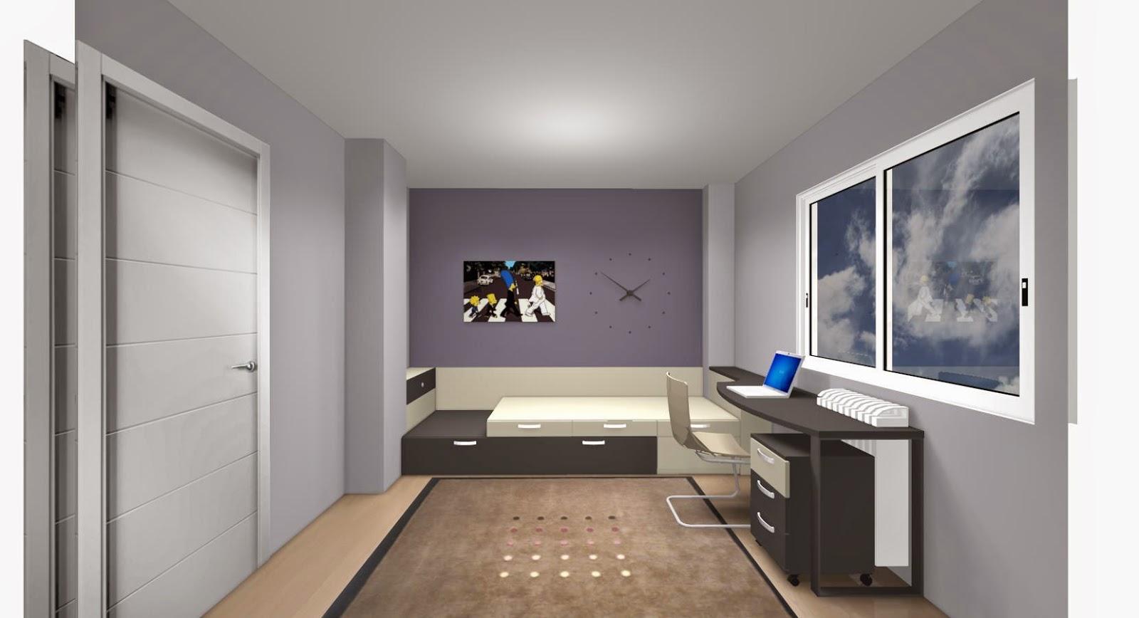 Una vez hemos acoplado la cama seguiremos el amueblamiento - Distribucion habitacion juvenil ...