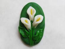 Cala Lily polymer clay figurine