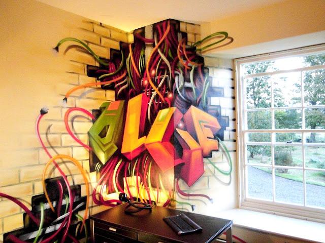 Graffiti tapet Graffiti vägg ungdomsrum fondtapet
