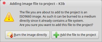 How to Burn ISO File in Linux Using K3B CD DVD Burner