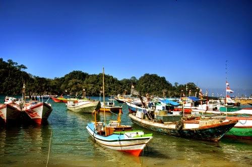Penyebrangan menuju Pulau Sempu