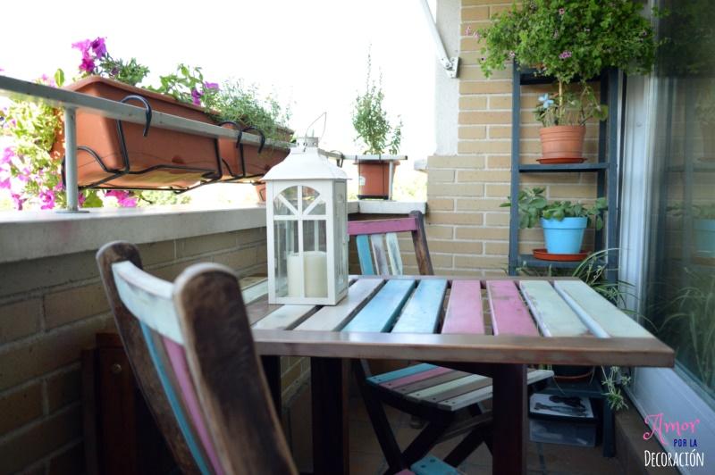 El tuneo de mi terraza con chalk paint en spray amor por - Pintura para terrazas ...