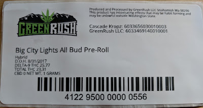 Green Rush C3500 Label