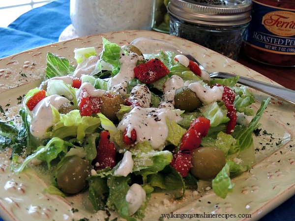Homemade Ranch Dressing is perfect for salad from Walking on Sunshine.