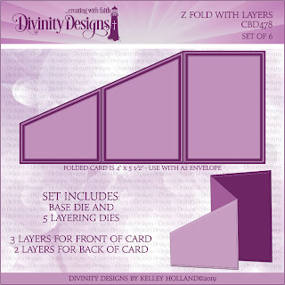 Divinity Designs LLC Custom Z Fold With Layers Dies