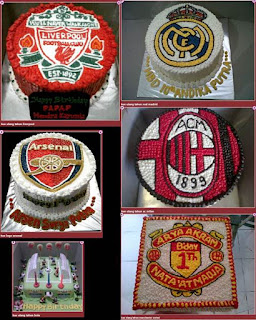 Kue Ulang Tahun AC Milan, Kue Ulang Tahun Arsenal, Kue Ulang Tahun Liverpool, Kue Ulang Tahun Manchester United, Kue Ulang Tahun Real Madrid