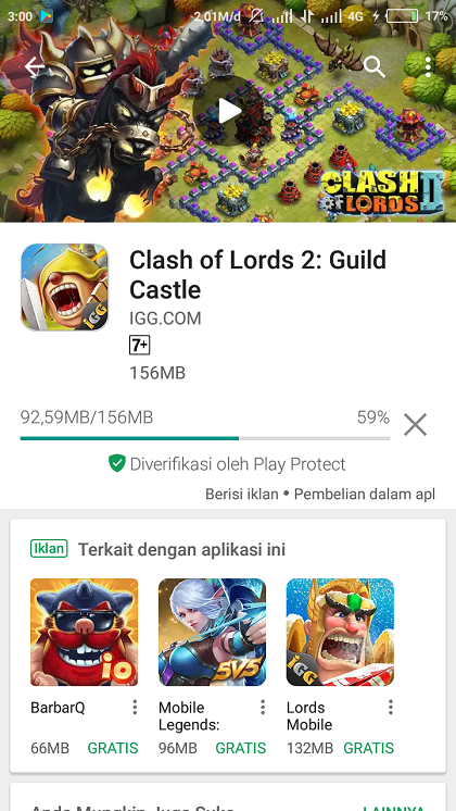 Proses Download Game Di Play Store
