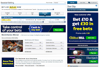 check baseball betting options online with William Hill