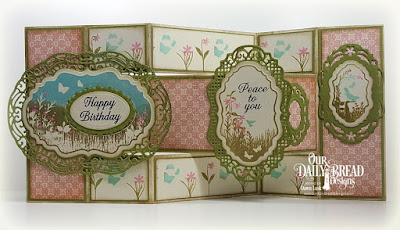 Our Daily Bread Designs Stamp Set: Vintage Bird Labels, Our Daily Bread Designs Paper Collection: Blushing Rose,  Our Daily Bread Designs Fun & Fancy Folds - Tri Shutter, Our Daily Bread Designs Custom Dies: Vintage Borders, Vintage Labels, Ornate Ovals, Ovals