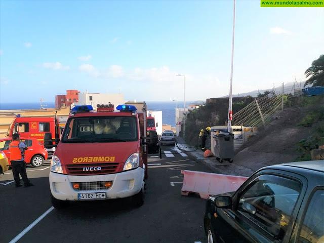 Dos contenedores ardieron esta tarde en Santa Cruz de La Palma