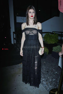 Alexandra Daddario Showing off her  in transparent top at Dior Addict Lacquer Pump Launch ~ Celebs.in Exclusive 001.jpg